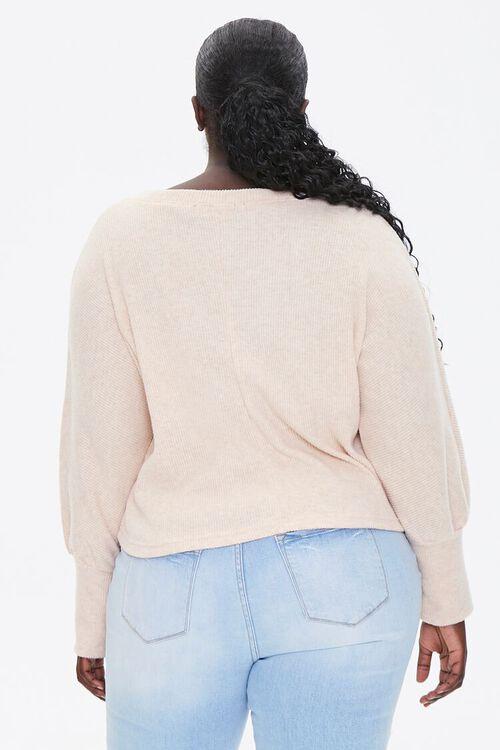 Plus Size V-Neck Sweater, image 3