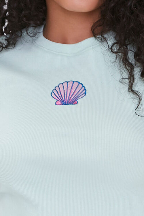 Shell Patch Cropped Tee, image 5