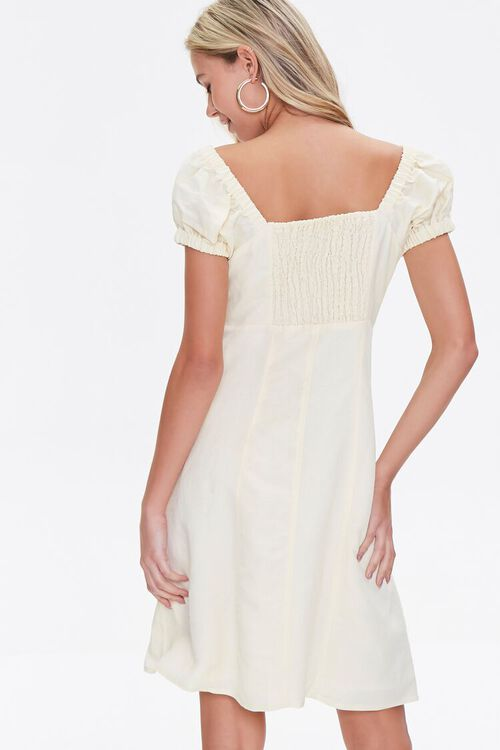 Linen Fit & Flare Dress, image 3