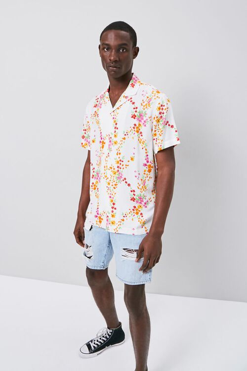 Floral Print Fitted Shirt, image 4