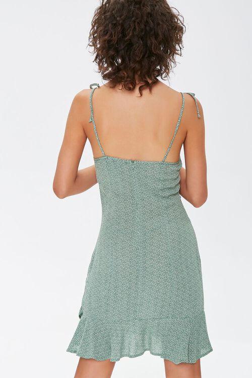 SAGE/CREAM Ditsy Floral Mini Dress, image 3