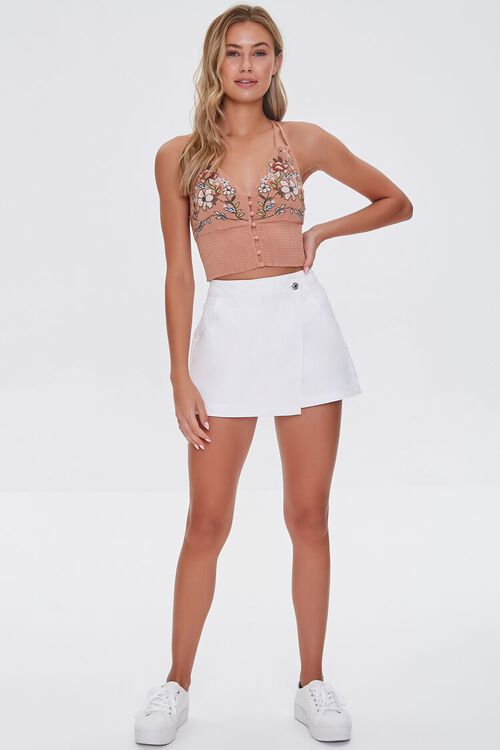 Twill Buttoned Wrap Skort, image 5