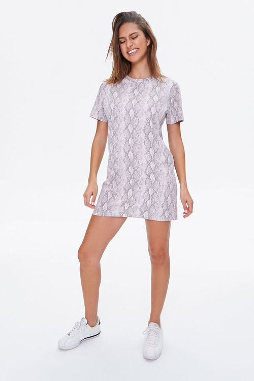 Snake Print T-Shirt Dress, image 4
