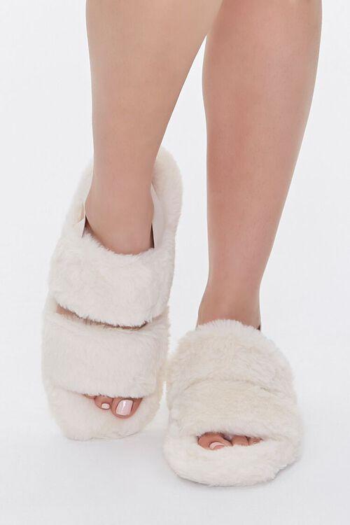 Faux Fur Backstrap Slippers, image 4