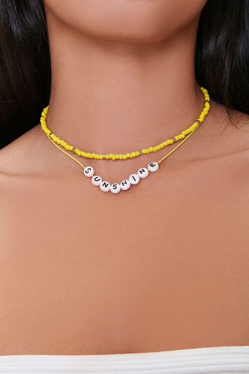 Sunshine Beaded Layered Necklace, image 1