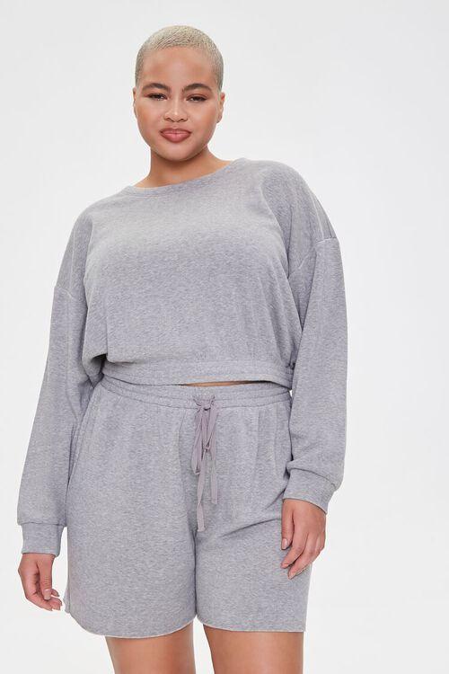 Plus Size Sweatshirt & Shorts Set, image 7