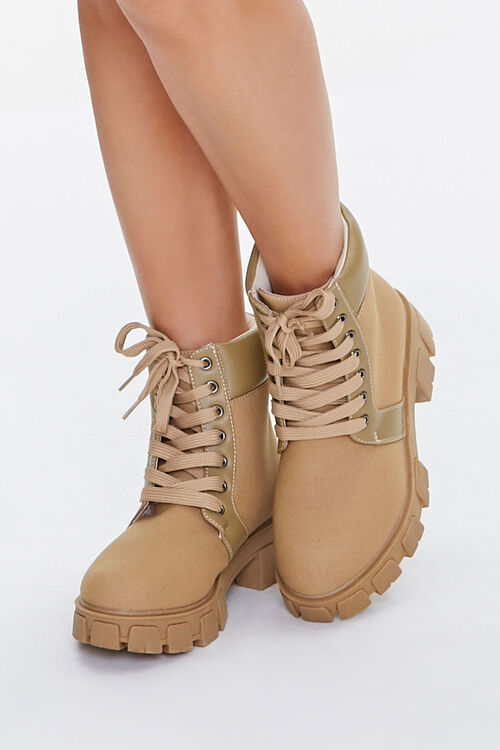 Lug Sole Lace-Up Ankle Boots, image 1