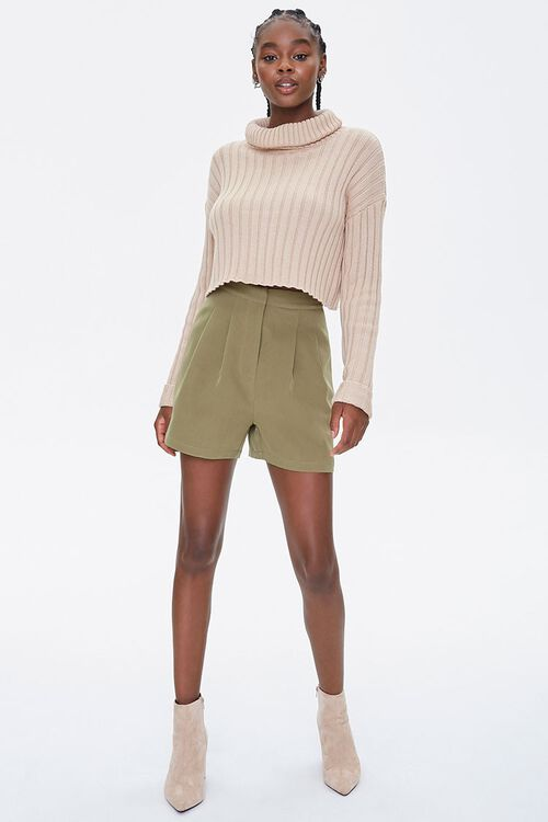 Pleated High-Rise Shorts, image 5