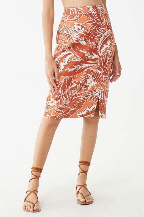 Tropical Print Skirt, image 2