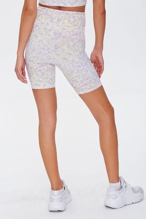 LILAC/MULTI Active Floral Print Biker Shorts, image 4