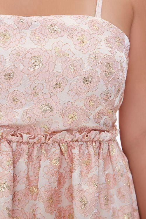 Plus Size Jacquard Rose Print Dress, image 5