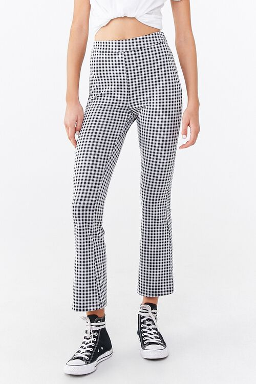Gingham Print Flare Pants, image 2