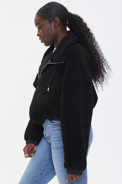 Faux Shearling Zip-Up Jacket, image 2