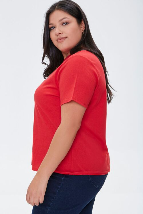 Plus Size Organic Cotton Gangster Wrapper Tee, image 2
