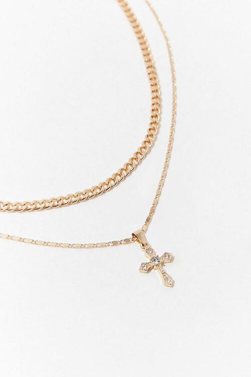 GOLD Chain Necklace Set, image 2
