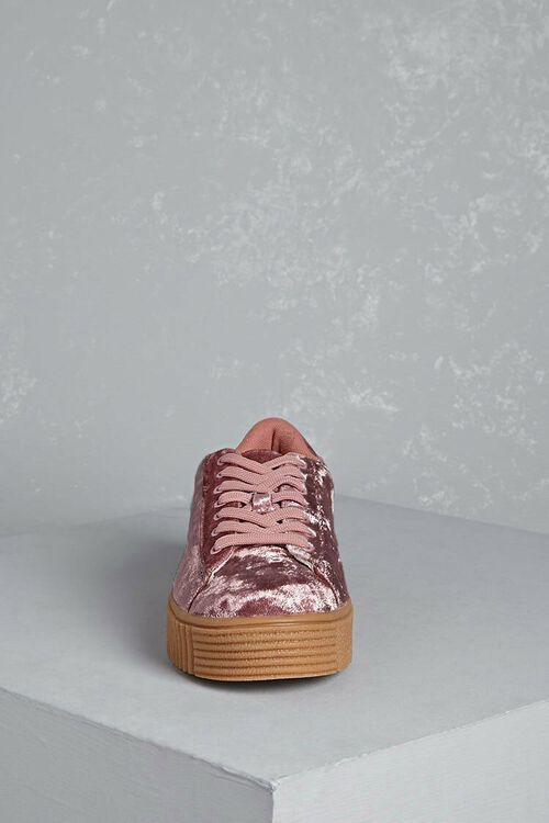 Crushed Velvet Platform Sneakers, image 5