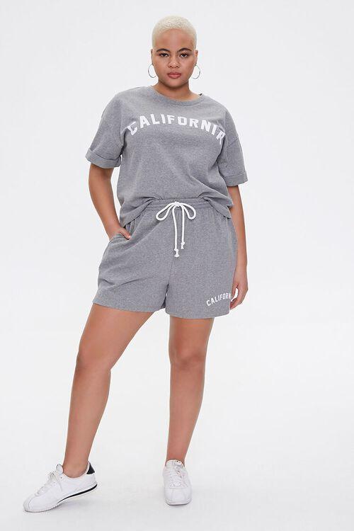 Plus Size California Tee & Shorts Set, image 4