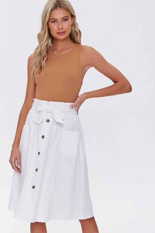 Flowy Button-Down Skirt, image 1
