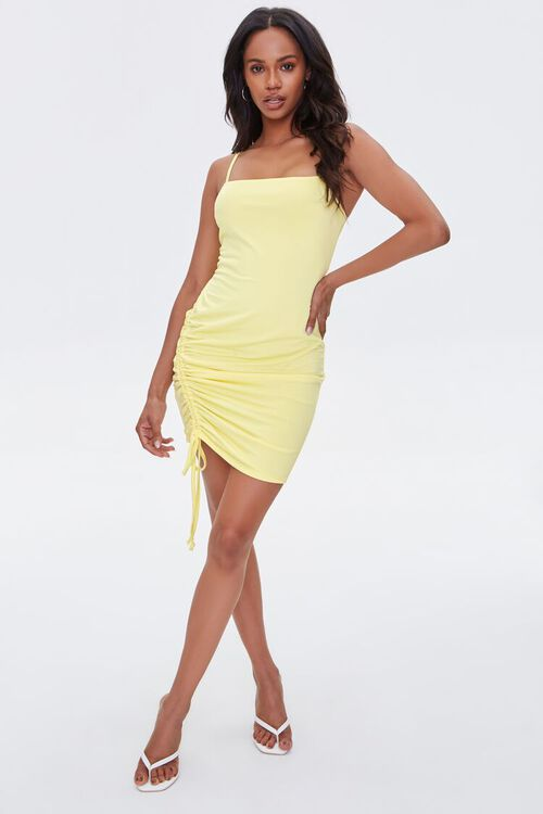 Ruched Drawstring Bodycon Dress, image 4