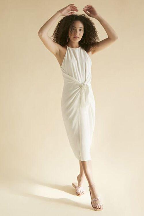 Tie-Front Plunge-Back Dress, image 1