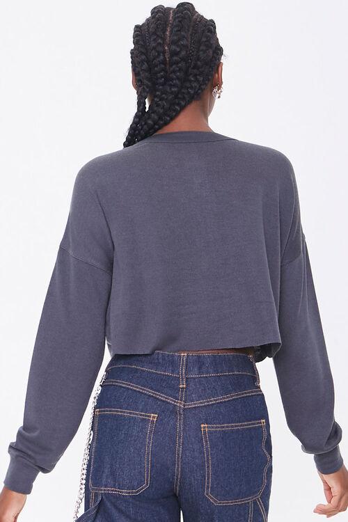 Slub Knit Henley Crop Top, image 3