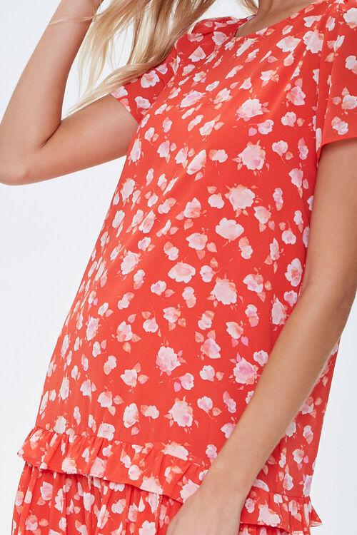 Chiffon Floral Tiered Dress, image 5