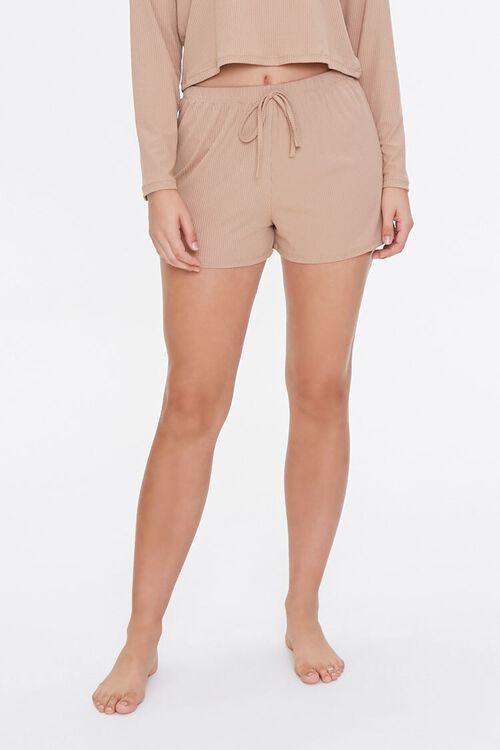 Ribbed Top & Shorts Pajama Set, image 4