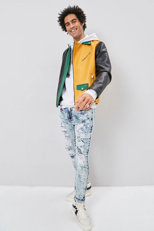 Bleached Distressed Skinny Jeans, image 5