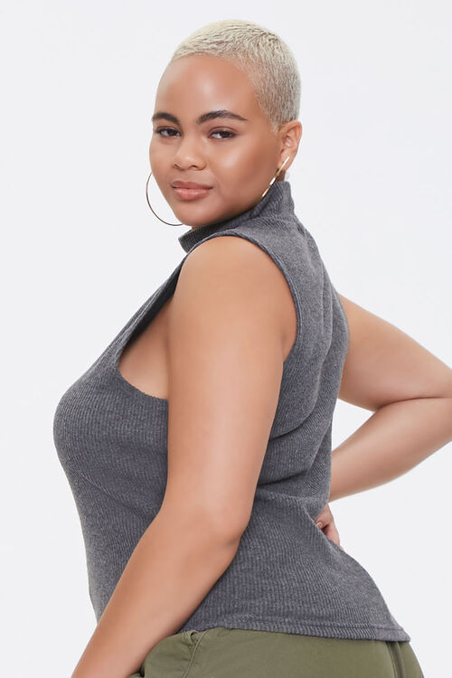 Plus Size Mock Neck Crop Top, image 2