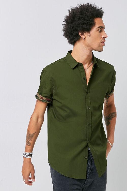 Classic Fit Camo-Trim Shirt, image 1