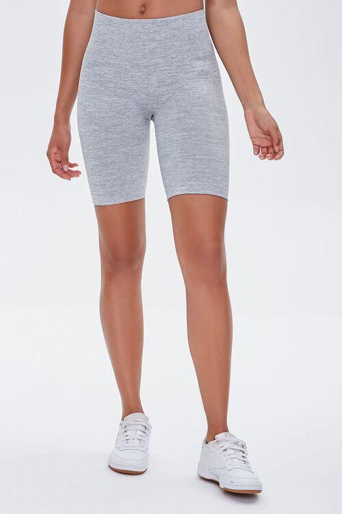 Active Seamless Heathered Biker Shorts, image 2