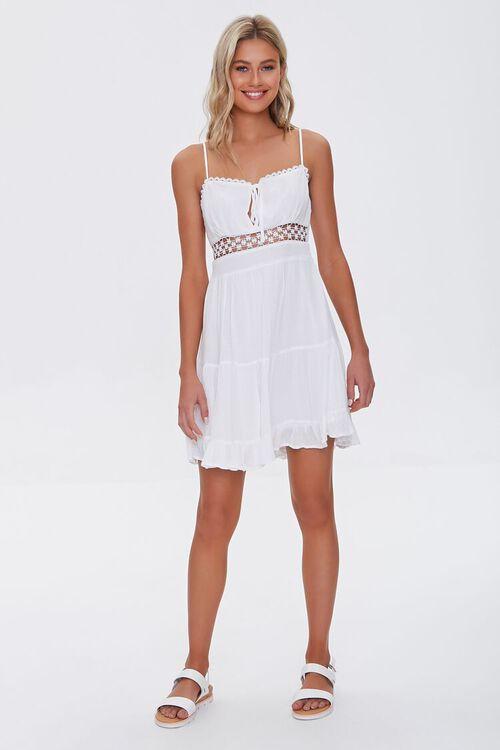 Lace-Trim Mini Dress, image 4