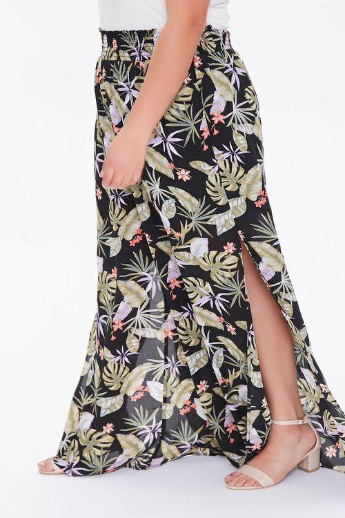 Plus Size Tropical Leaf Palazzo Pants, image 3