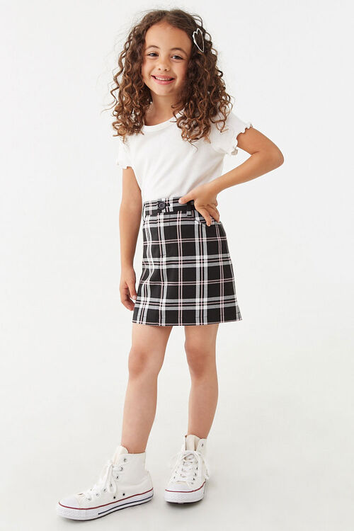 Girls Multicolor Plaid Skirt (Kids), image 5
