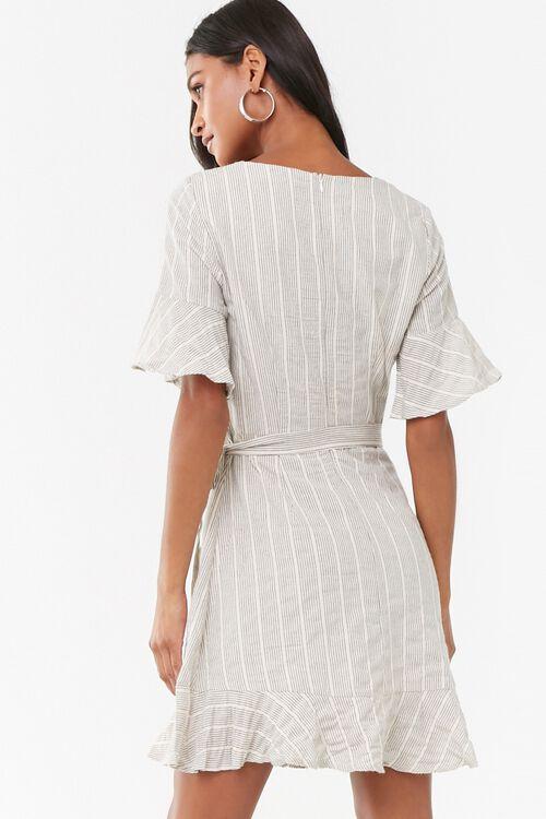 Striped Flounce Wrap-Front Dress, image 3