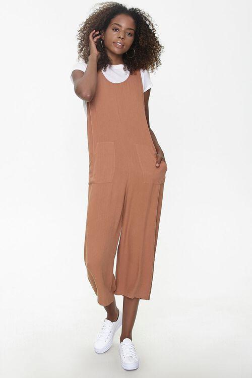 Sleeveless Linen-Blend Jumpsuit, image 1