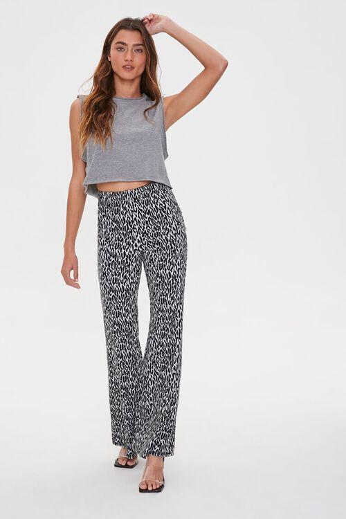 Leopard Print Flare Pants, image 1