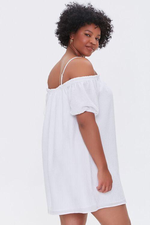 Plus Size Off-the-Shoulder Mini Dress, image 2