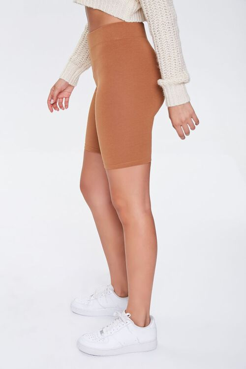 Basic Cotton-Blend Biker Shorts, image 3