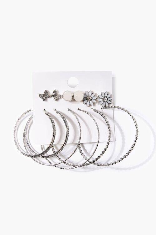 Hoop & Stud Earring Set, image 1