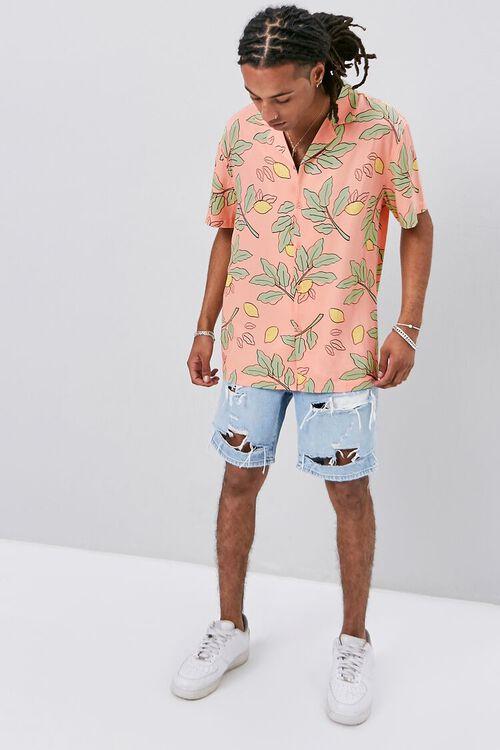 Classic Fit Lemon Print Shirt, image 4