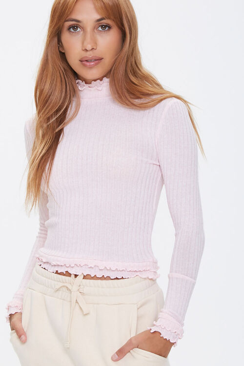 Ribbed Lettuce-Edge Top, image 1