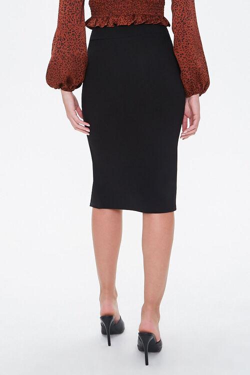 High-Slit Seamed Bodycon Skirt, image 3