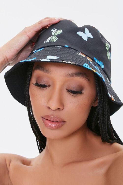 Butterfly Print Bucket Hat, image 1