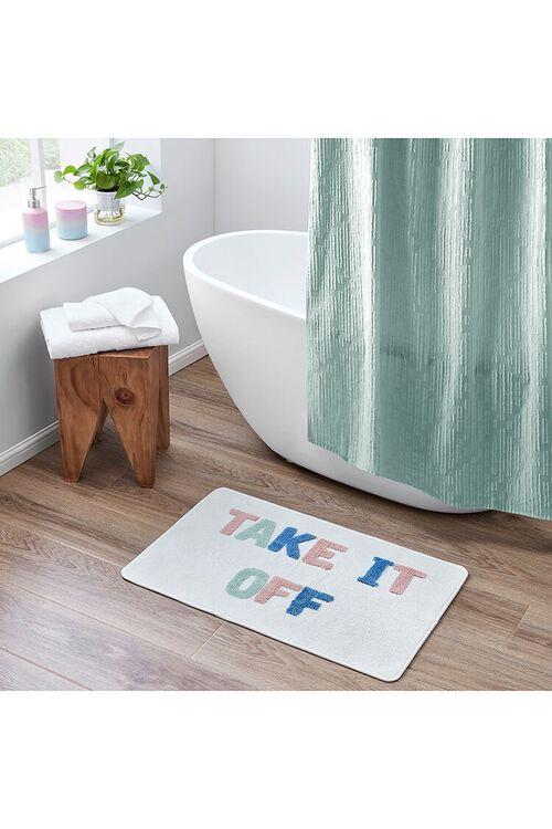 WHITE/MULTI Take it Off Graphic Bath Mat, image 1