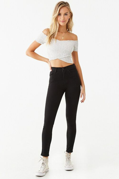High-Waist Skinny Jeans, image 4