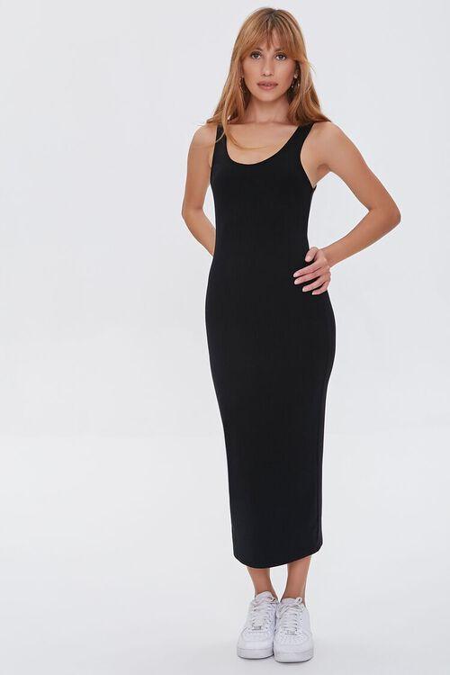 Ribbed Bodycon Midi Dress, image 1
