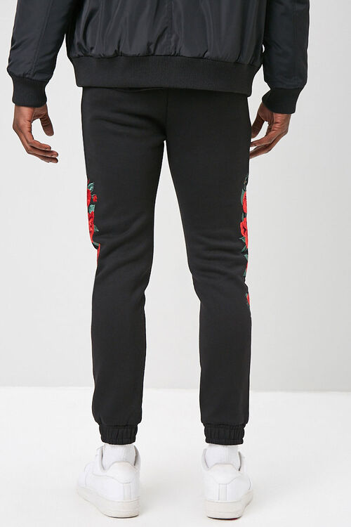 Rose Embroidered Graphic Joggers, image 4