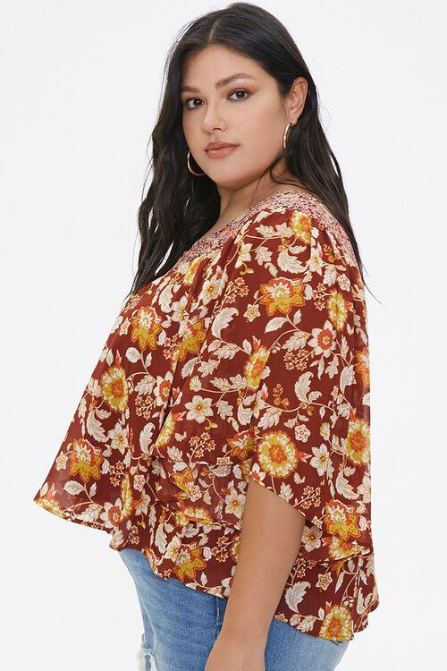 Plus Size Ornate Floral Top, image 2