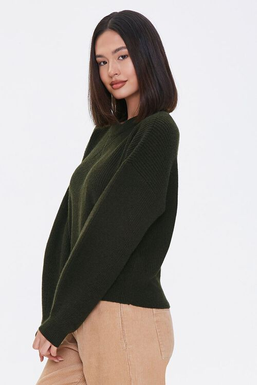 Ribbed Dropped-Sleeve Sweater, image 2
